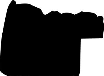 Baguette coupe droite bois profil incurvé largeur 3cm couleur noir antique décor ancien