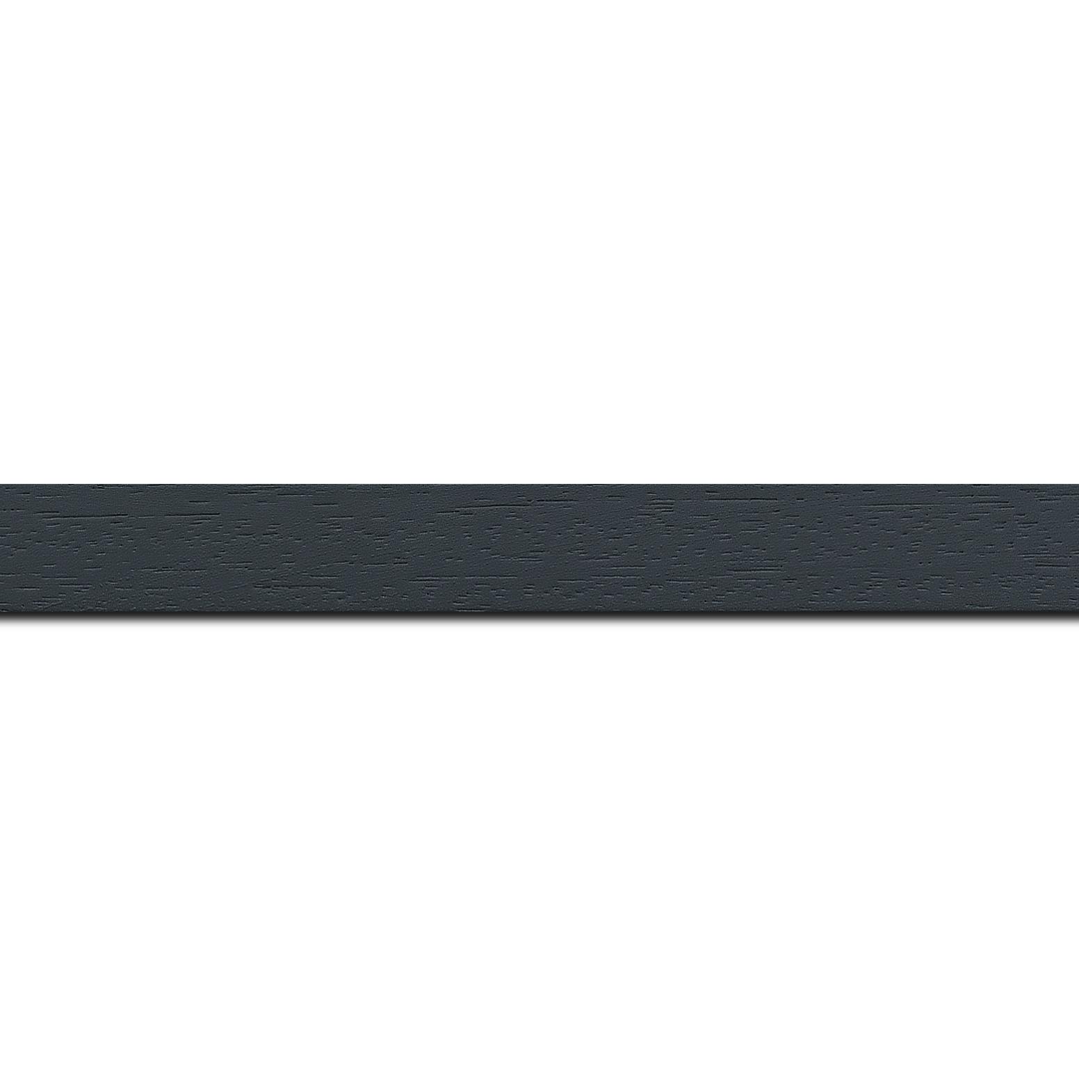 Pack par 12m, bois profil plat largeur 2cm hauteur 3.3cm couleur gris foncé satiné (aussi appelé cache clou)(longueur baguette pouvant varier entre 2.40m et 3m selon arrivage des bois)