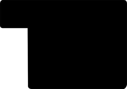 Baguette coupe droite bois profil plat effet cube largeur 4.4cm couleur noir mat  finition pore bouché
