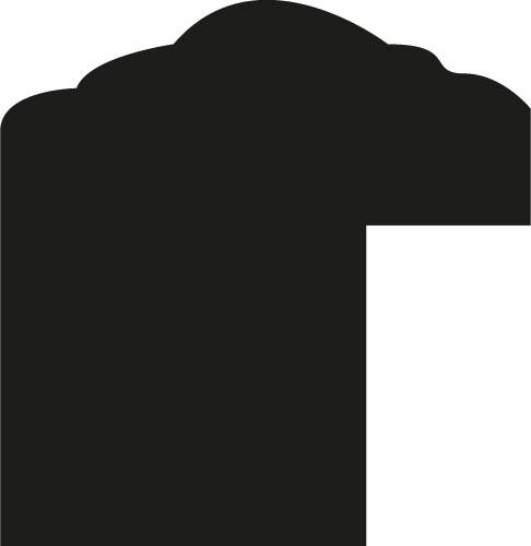 Baguette coupe droite bois profil jonc largeur 1.6cm argent style décor boule