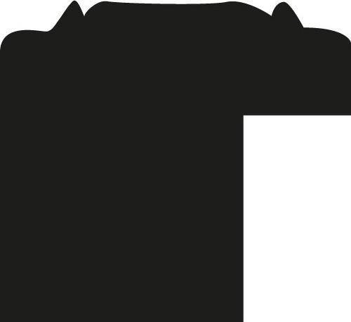 Baguette coupe droite bois profil jonc largeur 1.6cm argent style décor angulaire
