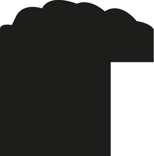 Baguette coupe droite bois profil jonc largeur 1.5cm argent style décor feuille