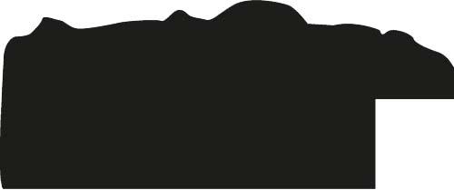 Baguette coupe droite bois profil plat largeur 3.5cm couleur noir antique satiné décor frise