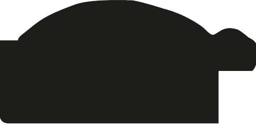 Baguette precoupe bois profil arrondi largeur 4.8cm couleur noir satiné décor bambou