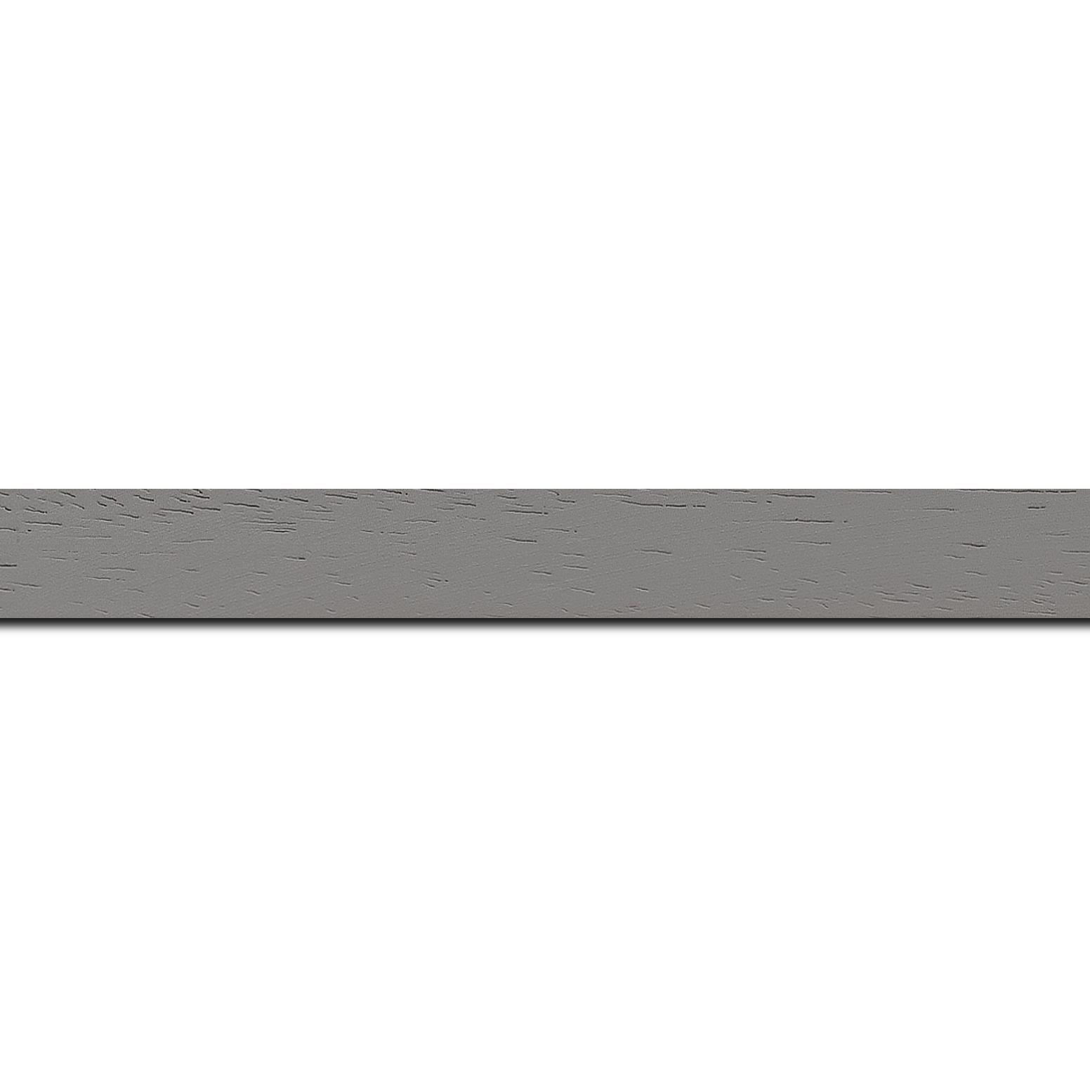 Baguette longueur 1.40m bois profil plat largeur 2cm couleur gris clair satiné
