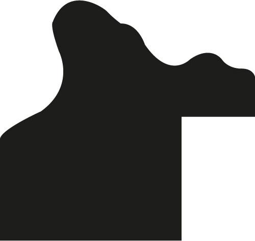 Baguette precoupe bois profil incurvé largeur 2.1cm or patiné à la feuille