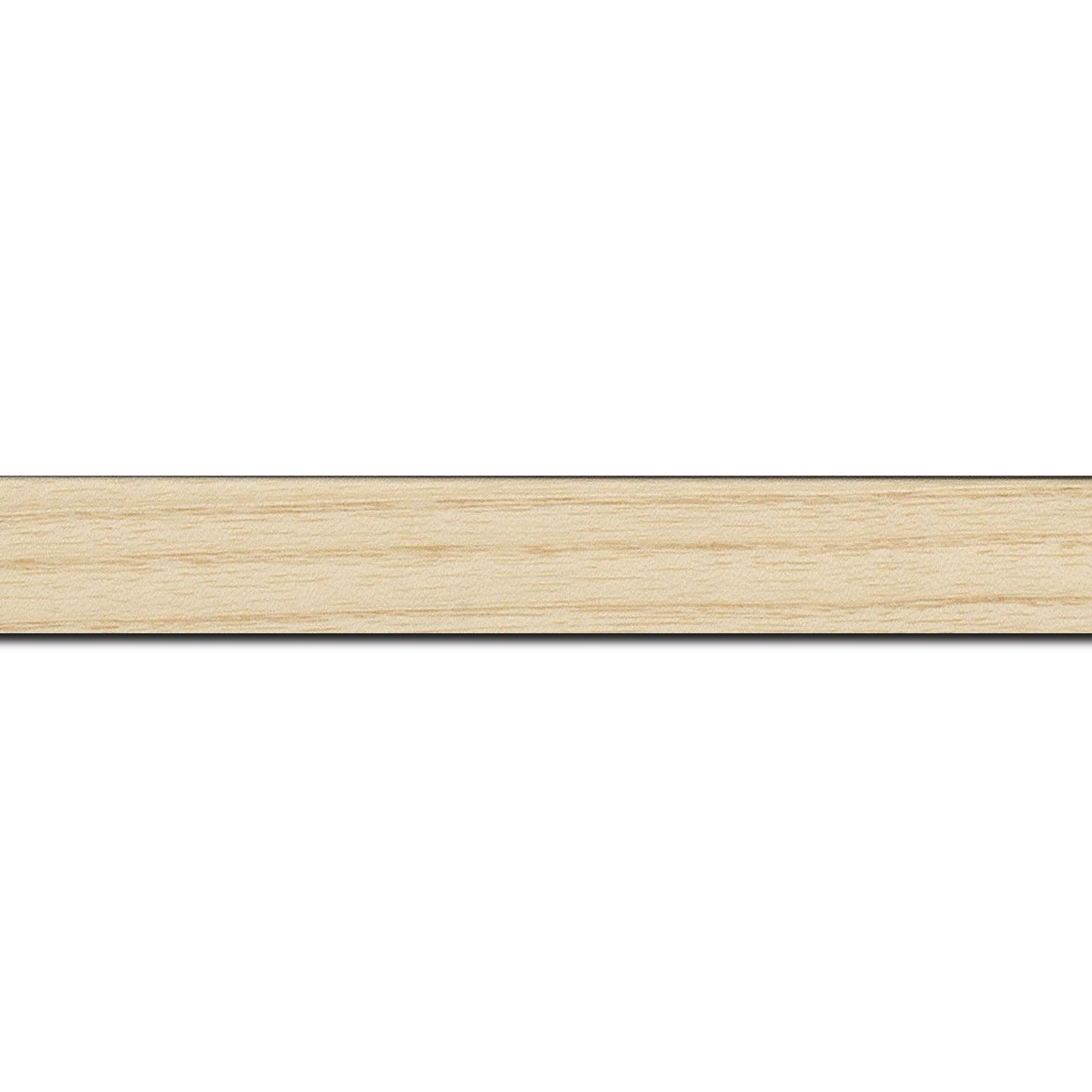 Baguette longueur 1.40m bois profil plat largeur 2.5cm plaquage haut de gamme frêne naturel