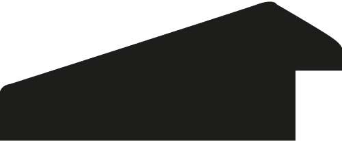 Baguette coupe droite bois profil cocotte largeur 5.1cm couleur noir satiné