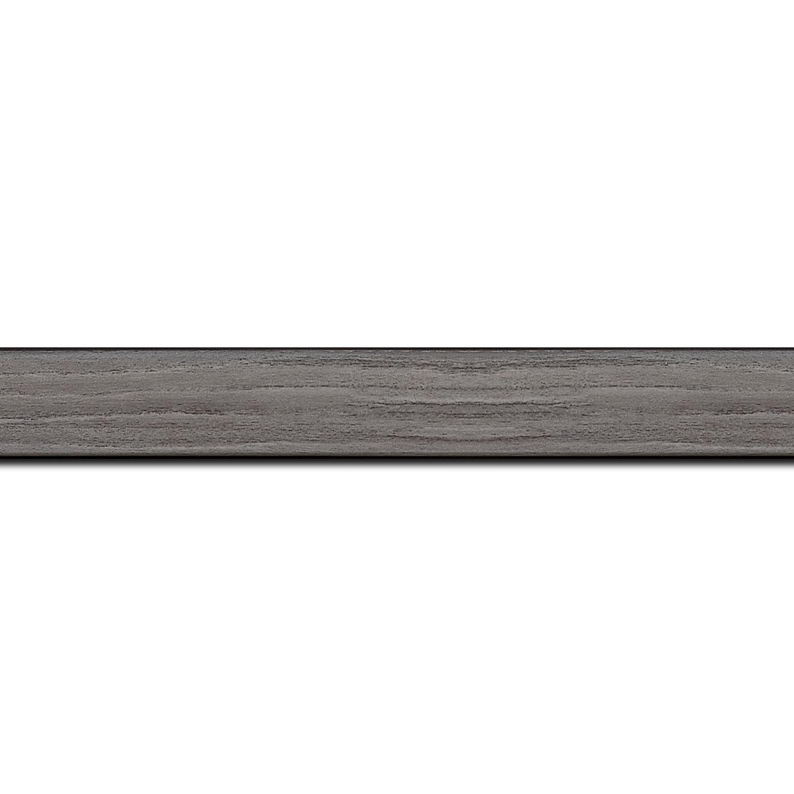 Baguette longueur 1.40m bois profil plat largeur 2cm décor bois gris