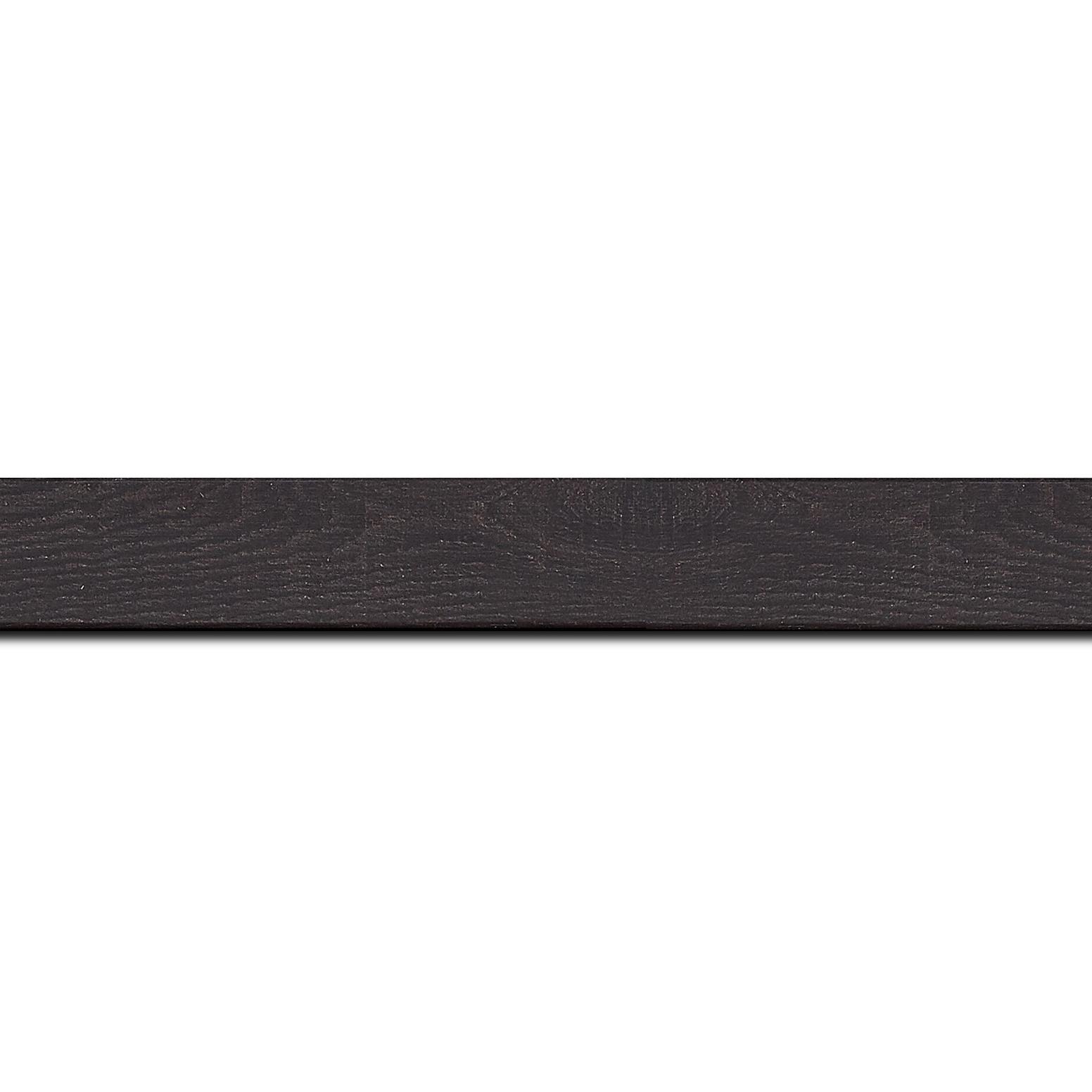 Baguette longueur 1.40m bois profil plat largeur 2cm décor bois wengé foncé