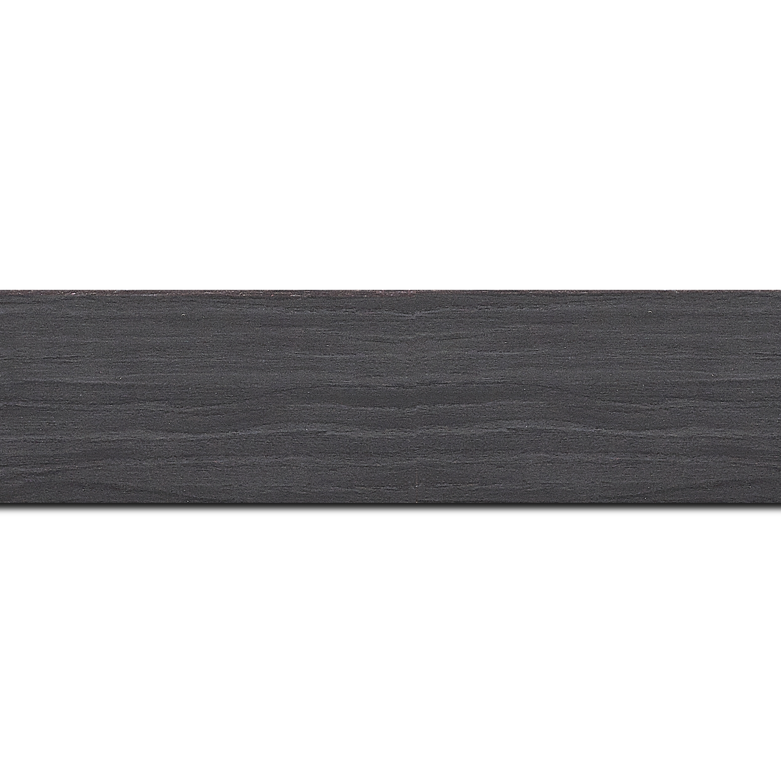Baguette longueur 1.40m bois profil plat largeur 4.2cm décor bois noir ébène