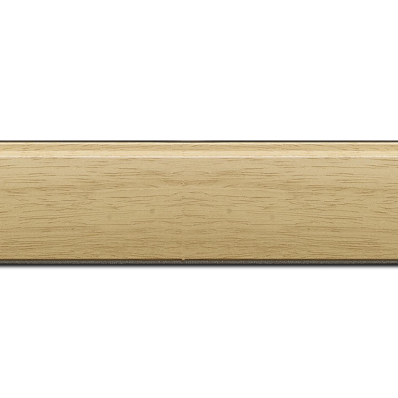 Baguette longueur 1.40m bois profil en pente méplat largeur 4.8cm ayous massif naturel (sans vernis, peut être peint...)