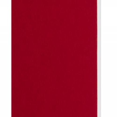 Plaque passe-partout rouge, âme blanche, épaisseur 1,4mm dimension 80x120cm - Pack de 25 feuilles