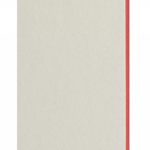Plaque passe-partout blanc naturel, âme de couleur pigmentée (rouge tonique), épaisseur 1,7mm dimension 80x102cm - Pack de 20 feuilles