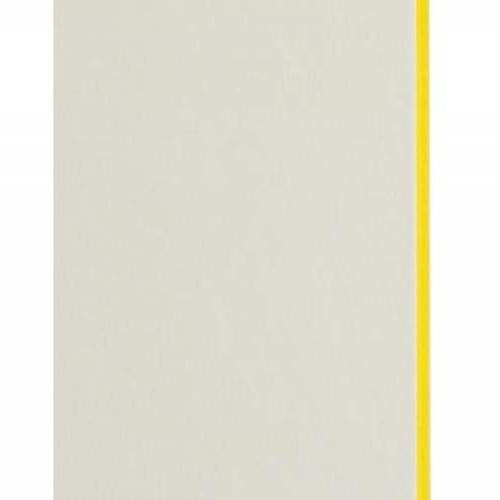 Plaque passe-partout blanc naturel, âme de couleur pigmentée (jaune tonique), épaisseur 1,7mm dimension 80x102cm - Pack de 20 feuilles