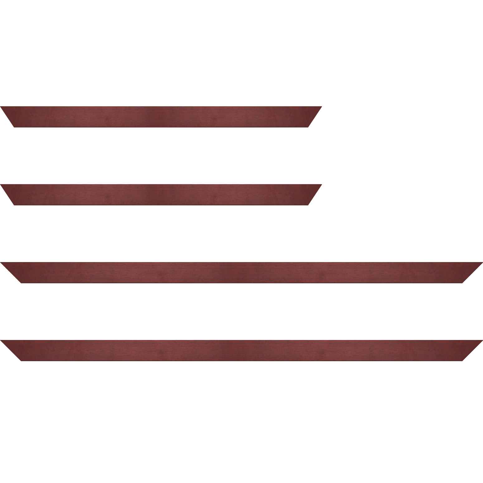 Baguette service précoupé bois profil plat largeur 2.5cm couleur rose fushia satiné