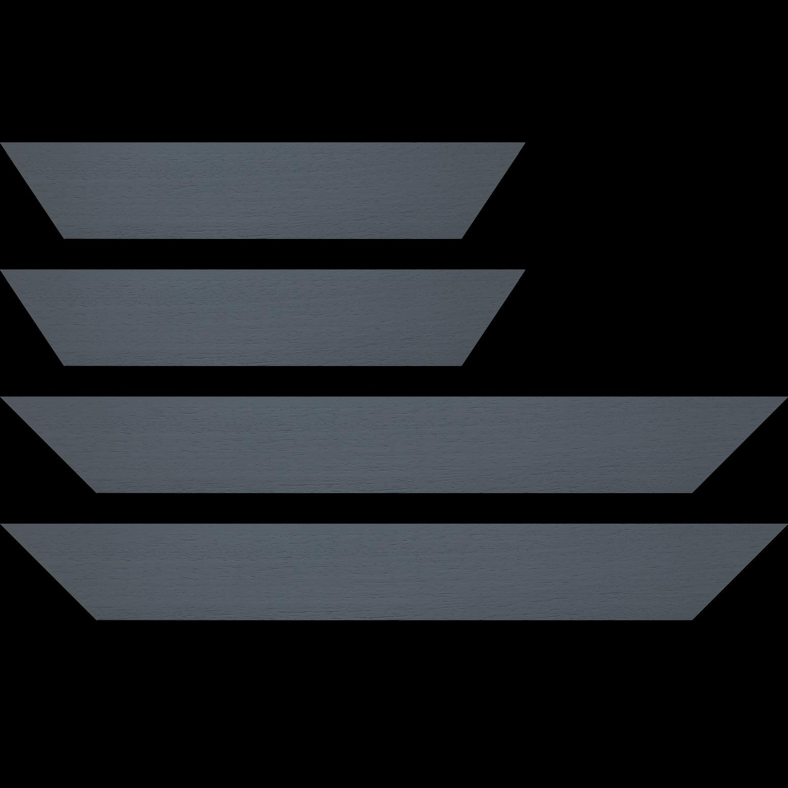 Baguette service précoupé Bois profil plat largeur 5.9cm couleur gris foncé satiné