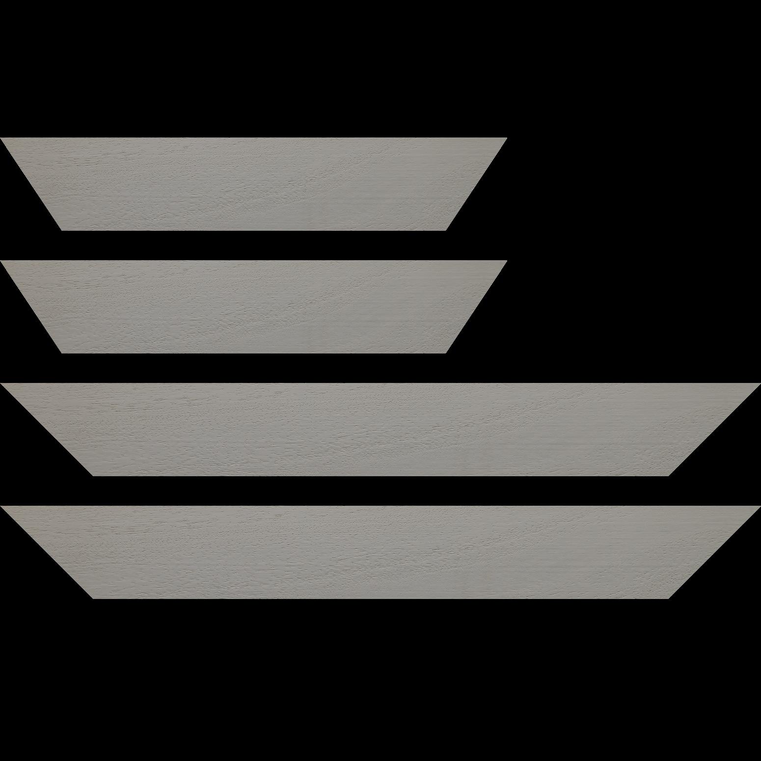 Baguette service précoupé Bois profil plat largeur 5.9cm couleur gris clair satiné