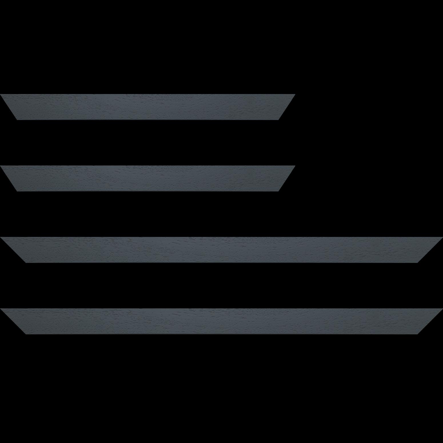 Baguette service précoupé Bois profil plat largeur 3cm couleur gris foncé satiné