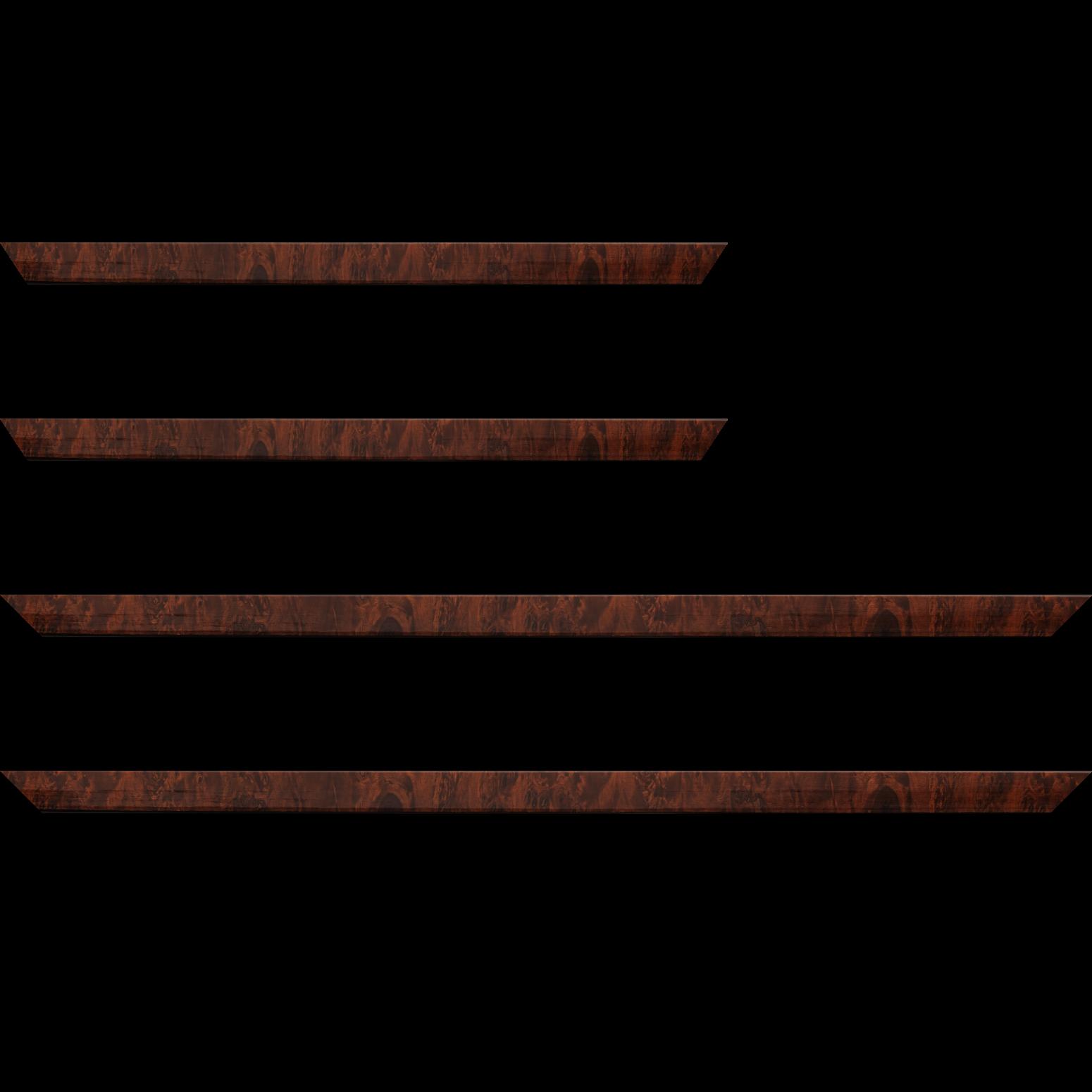 Baguette service précoupé Bois loupe véritable vernis largeur 2cm essence peuplier
