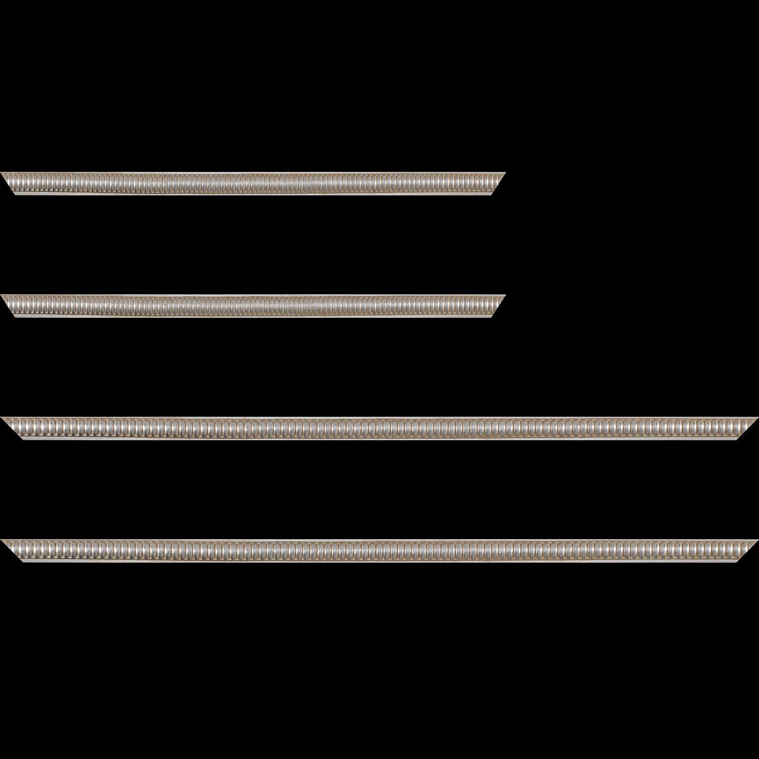 Baguette service précoupé Bois profil jonc largeur 1.6cm argent style décor boule