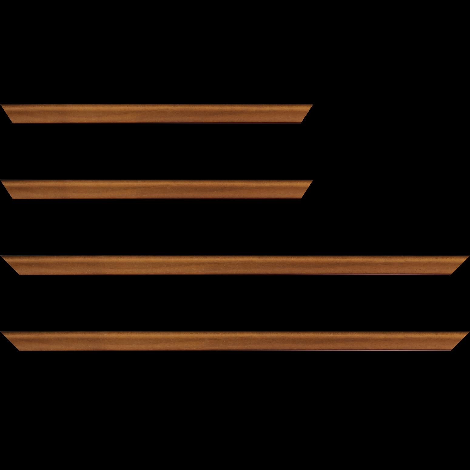 Baguette service précoupé Bois profil incuvé largeur 2.1cm couleur marron clair satiné