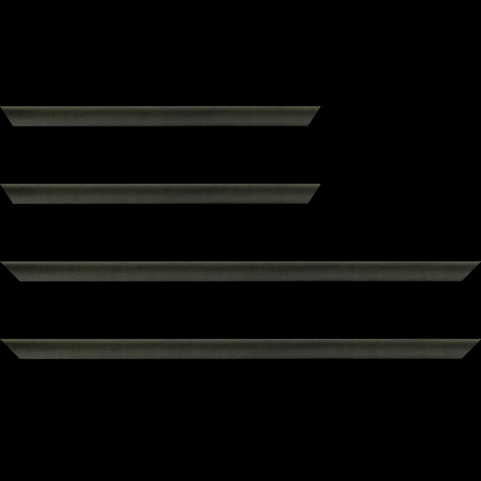 Baguette service précoupé Bois profil incuvé largeur 2.1cm couleur vert olive satiné