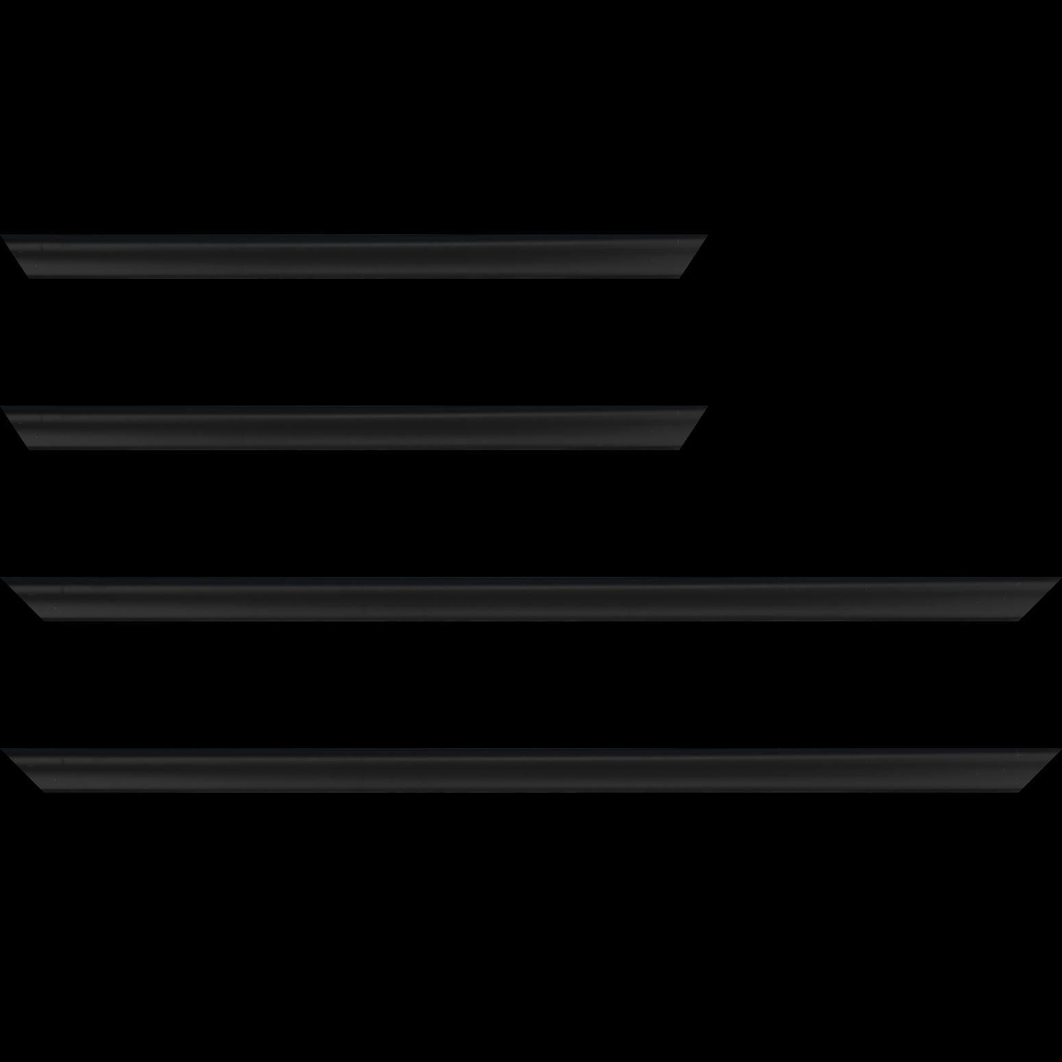 Baguette service précoupé Bois profil incuvé largeur 2.1cm couleur noir mat