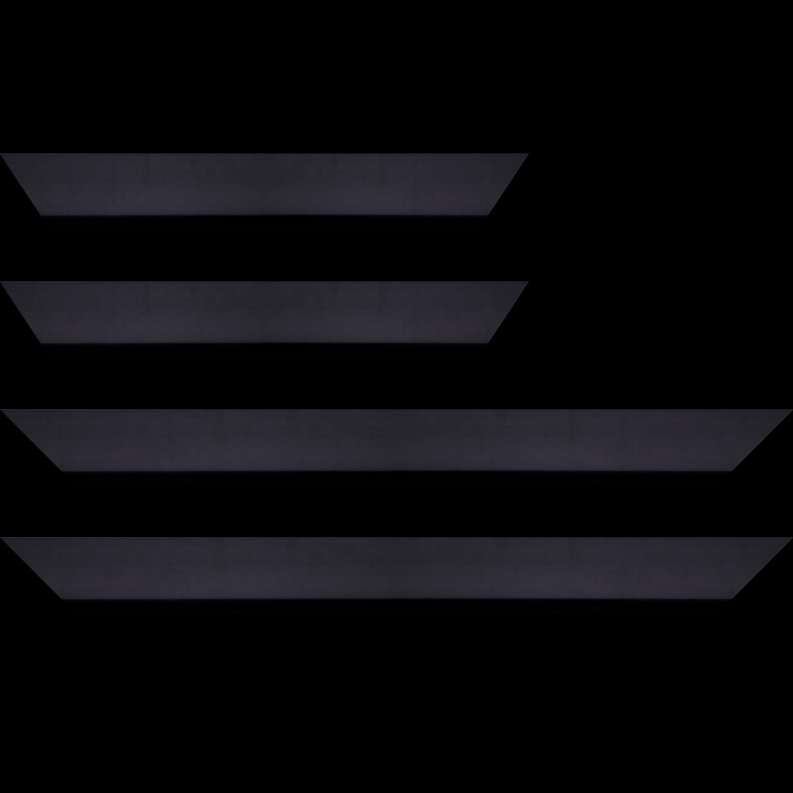 Baguette service précoupé Bois profil cocotte largeur 5.1cm couleur noir satiné