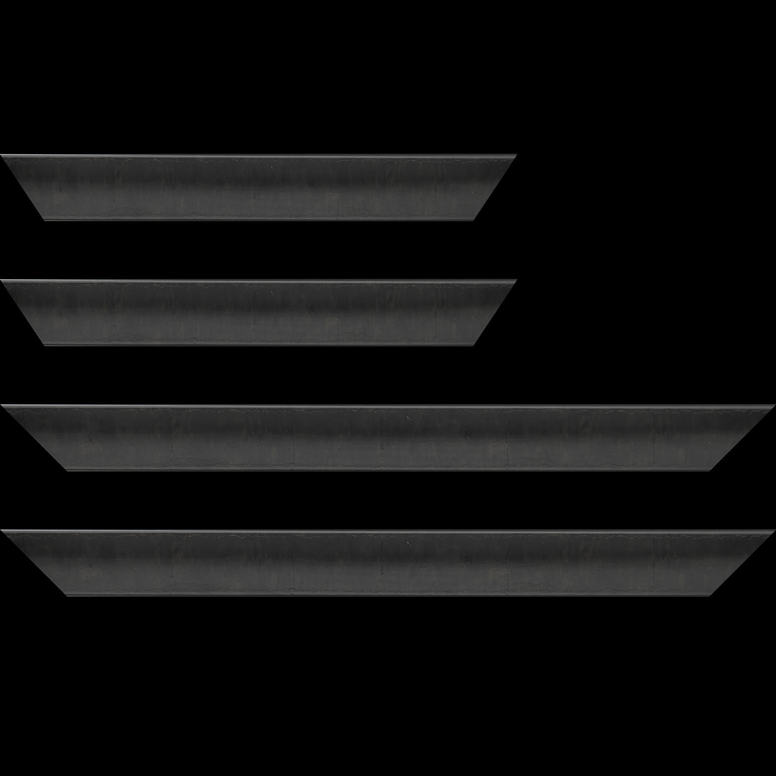 Baguette service précoupé Bois profil incurvé largeur 4.1cm couleur noir anthracite effet plaquage