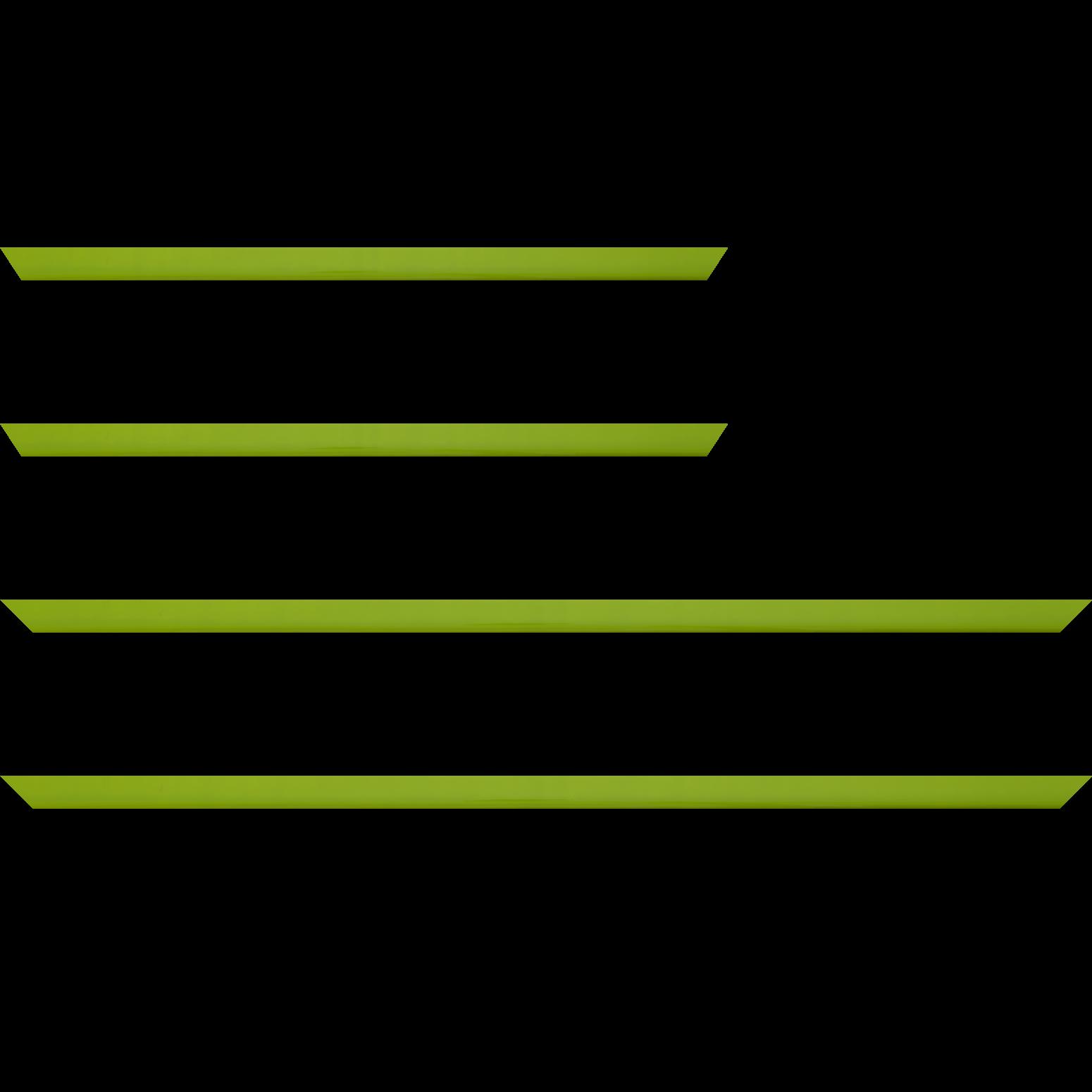 Baguette service précoupé Bois profil méplat largeur 1.4cm couleur vert anis laqué