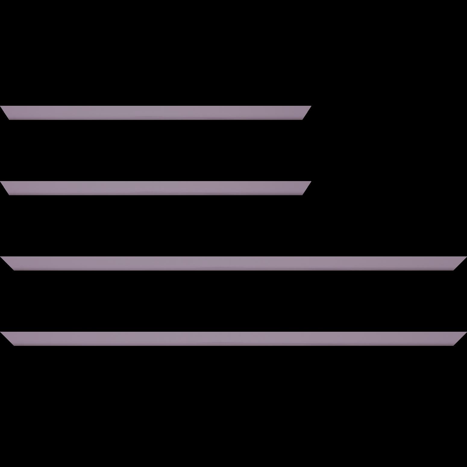 Baguette service précoupé Bois profil méplat largeur 1.4cm couleur violine laqué