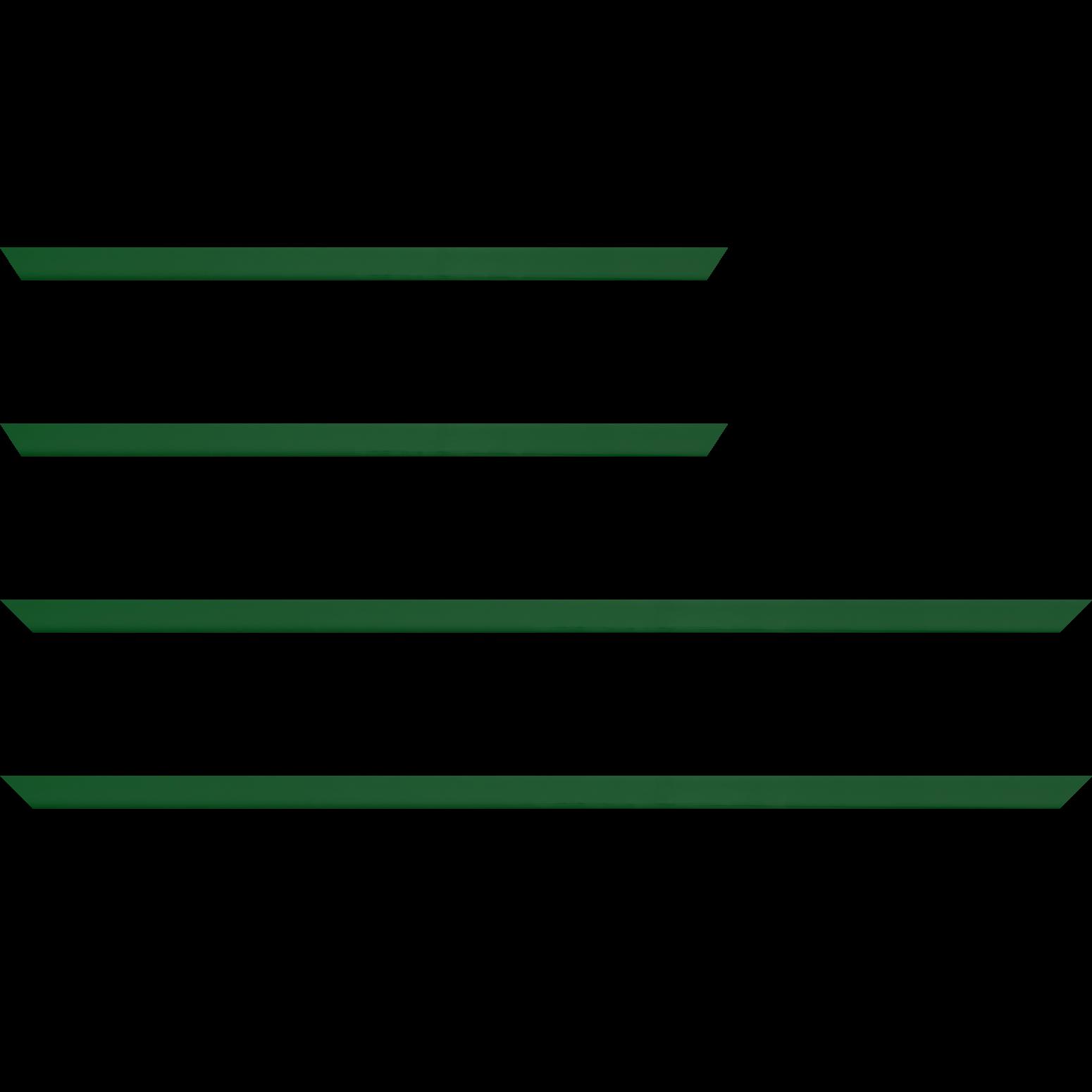 Baguette service précoupé Bois profil méplat largeur 1.4cm couleur vert anglais laqué