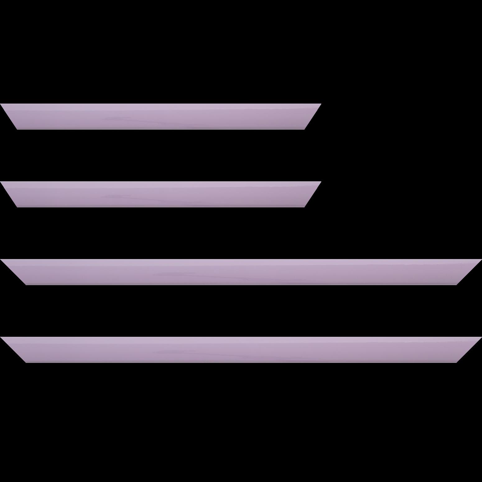 Baguette service précoupé Bois profil méplat largeur 2.3cm couleur violine laqué