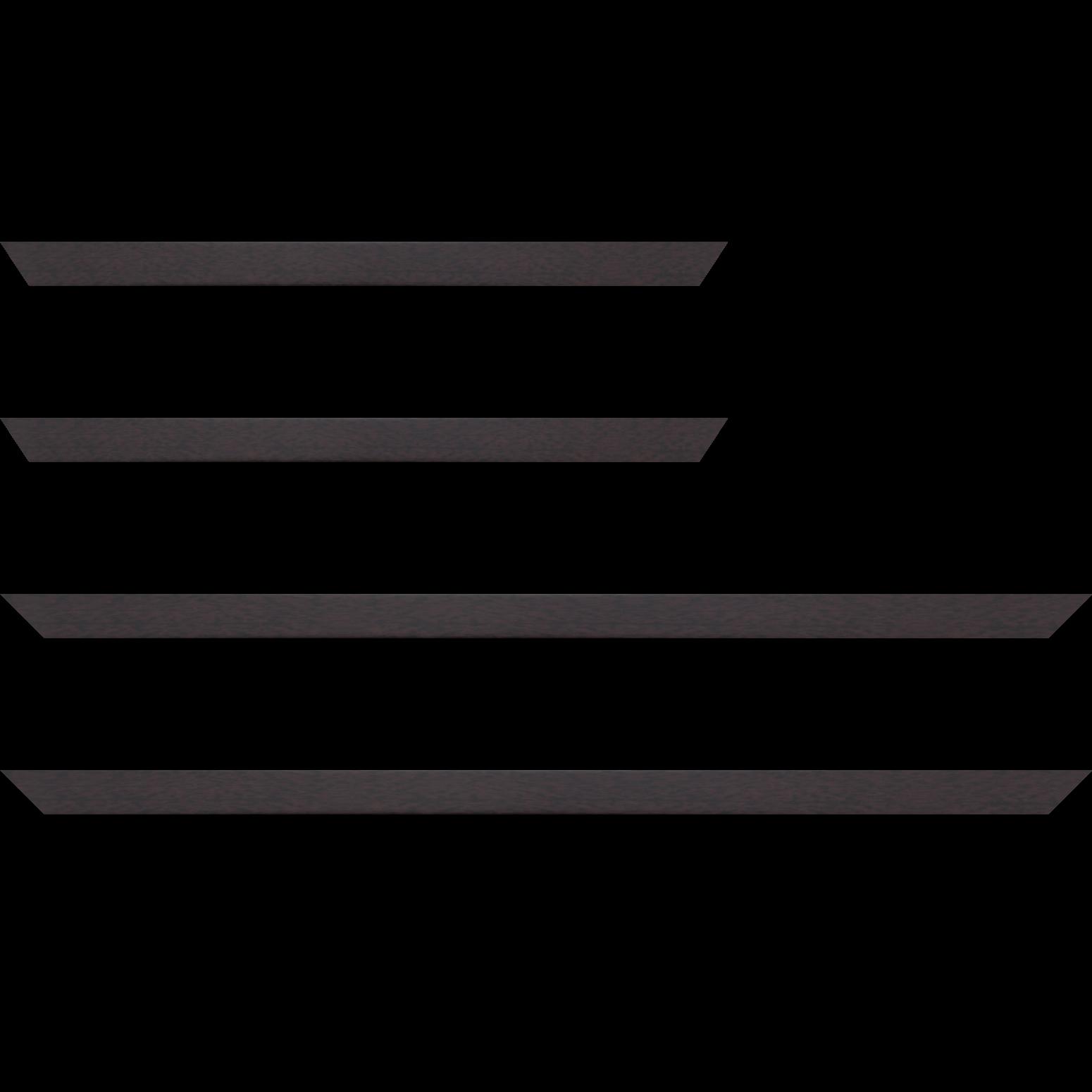Baguette service précoupé Bois profil plat effet cube largeur 2cm couleur ton bois palissandre