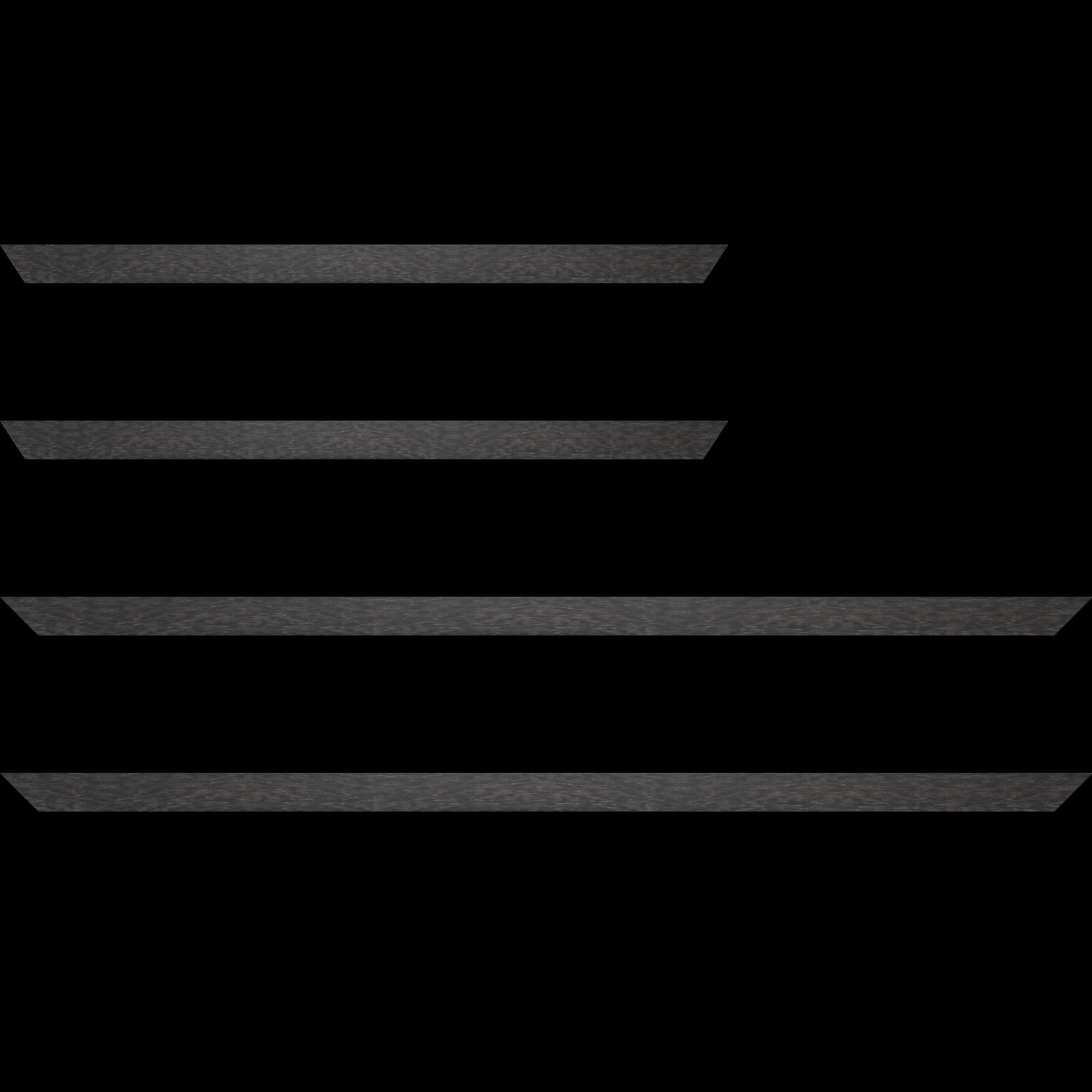 Baguette service précoupé Bois profil plat effet cube largeur 2cm couleur ton bois anthracite