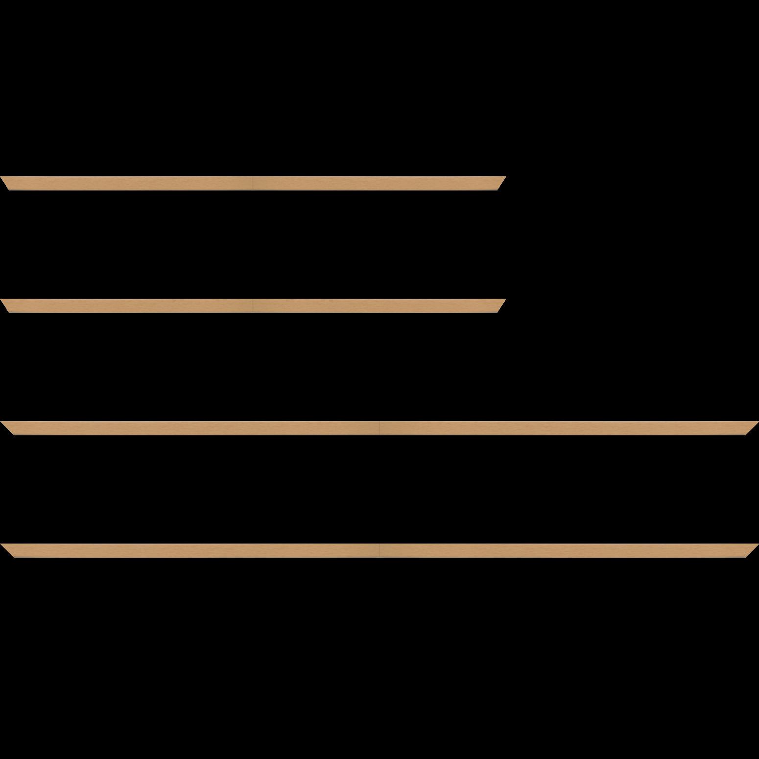 Baguette service précoupé Bois profil plat effet cube largeur 2cm couleur naturel satiné
