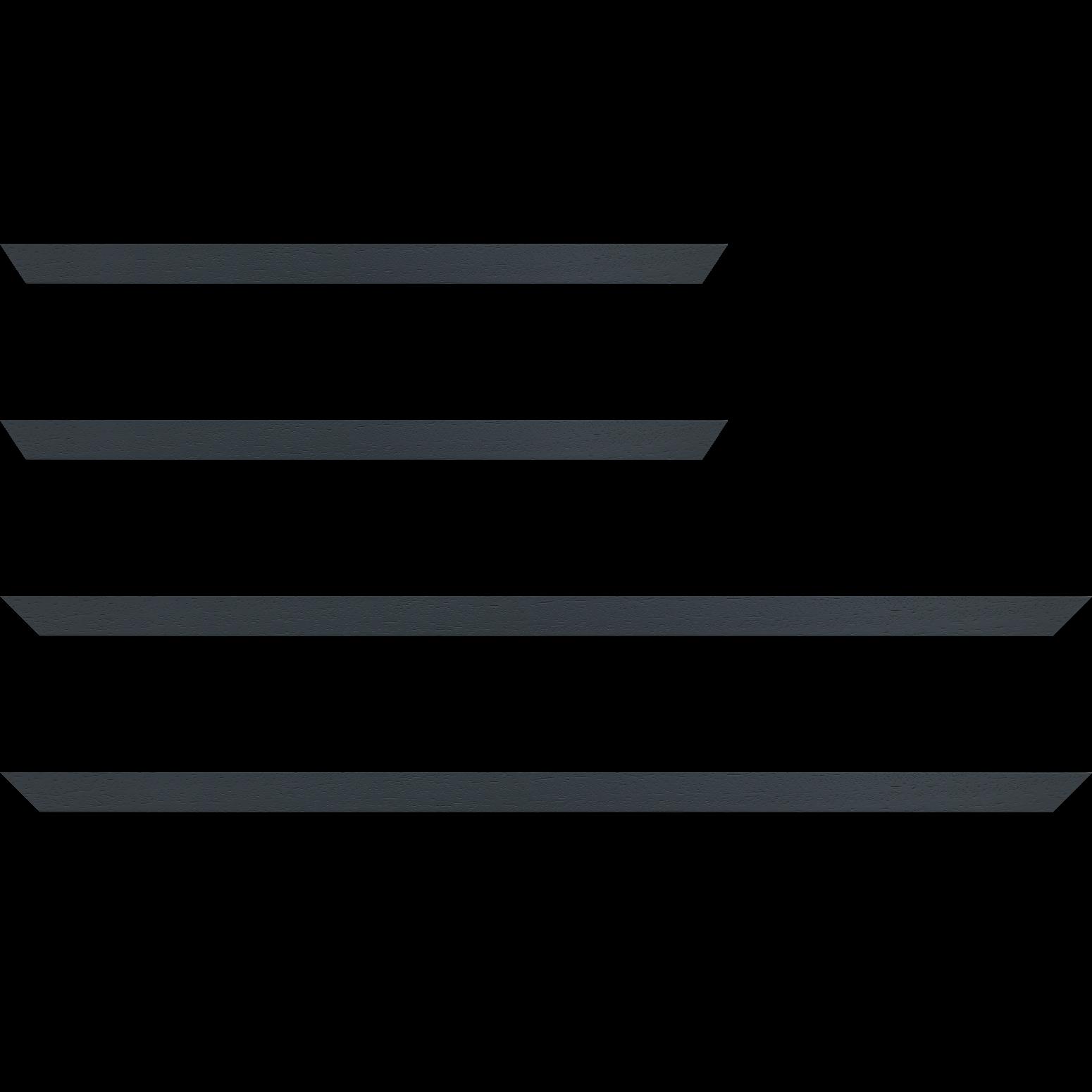 Baguette service précoupé Bois profil plat largeur 2cm hauteur 3.3cm couleur gris foncé satiné (aussi appelé cache clou)