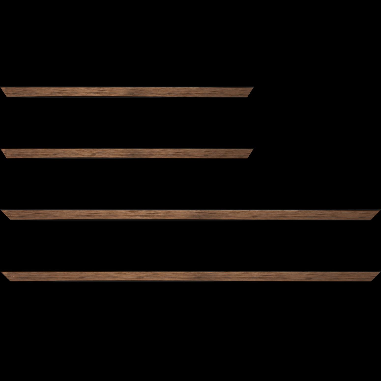 Baguette service précoupé Bois profil plat largeur 1.5cm couleur cuivre foncé