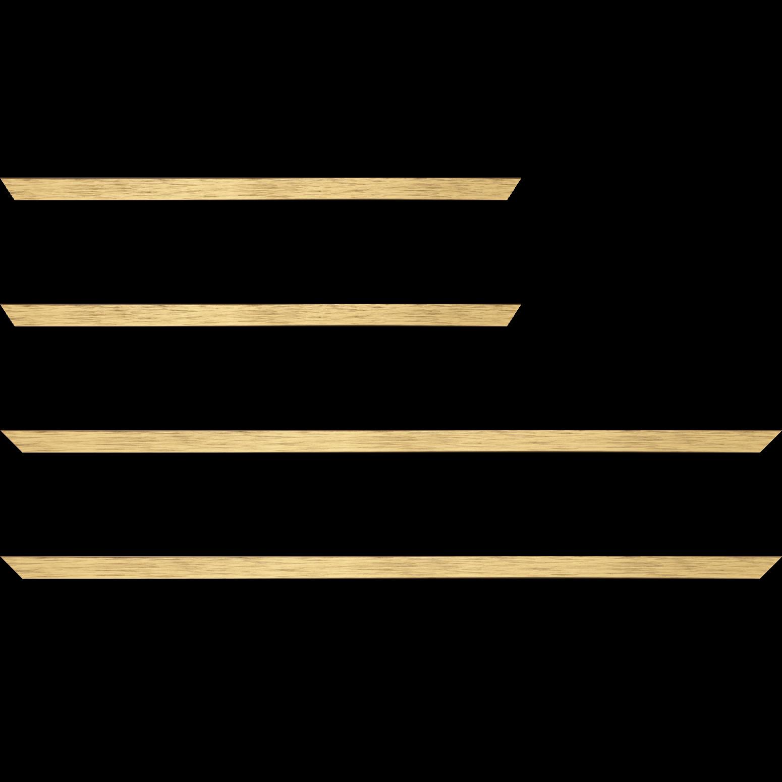 Baguette service précoupé Bois profil plat largeur 1.5cm couleur or