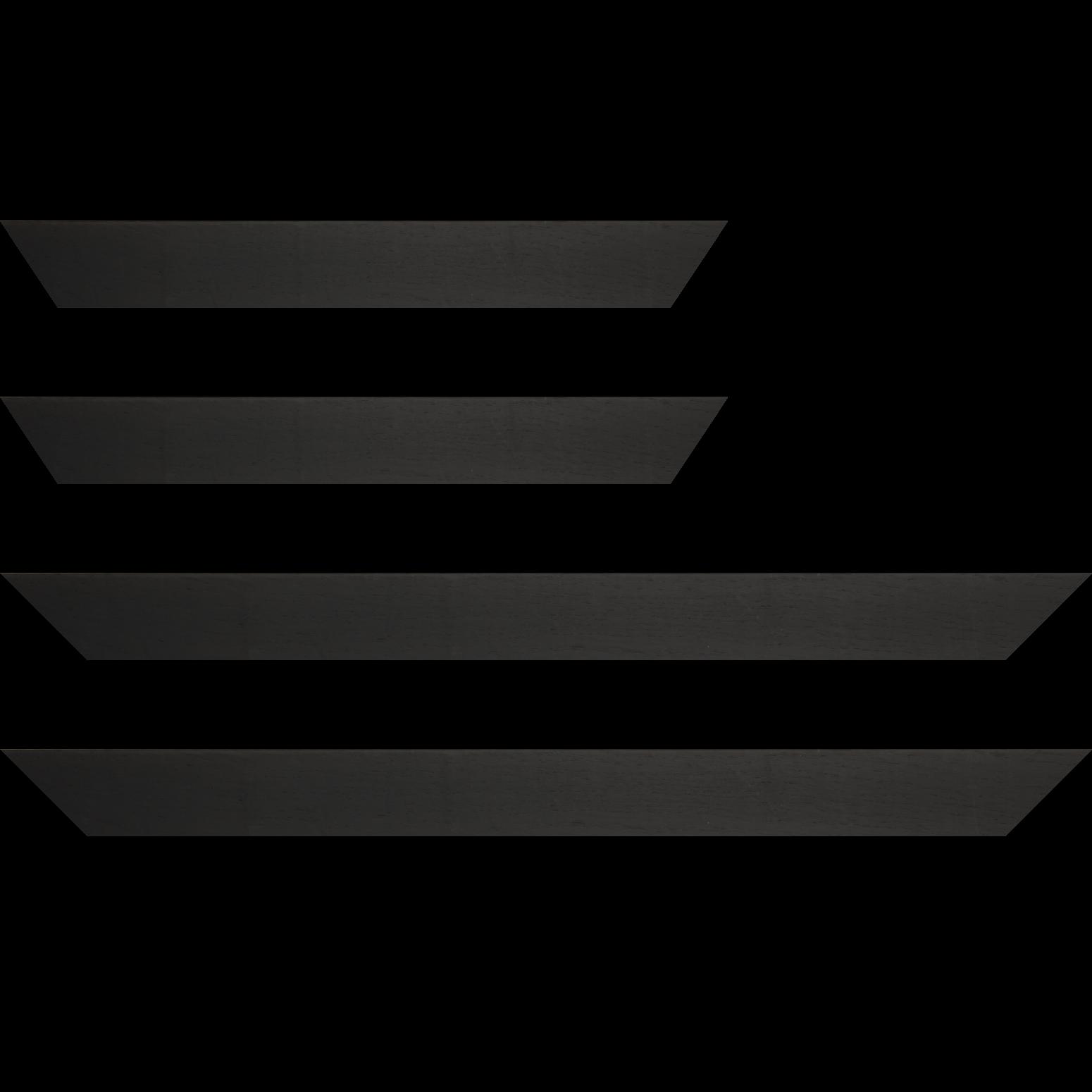 Baguette service précoupé Bois profil plat largeur 4cm plaquage haut de gamme chêne teinté noir