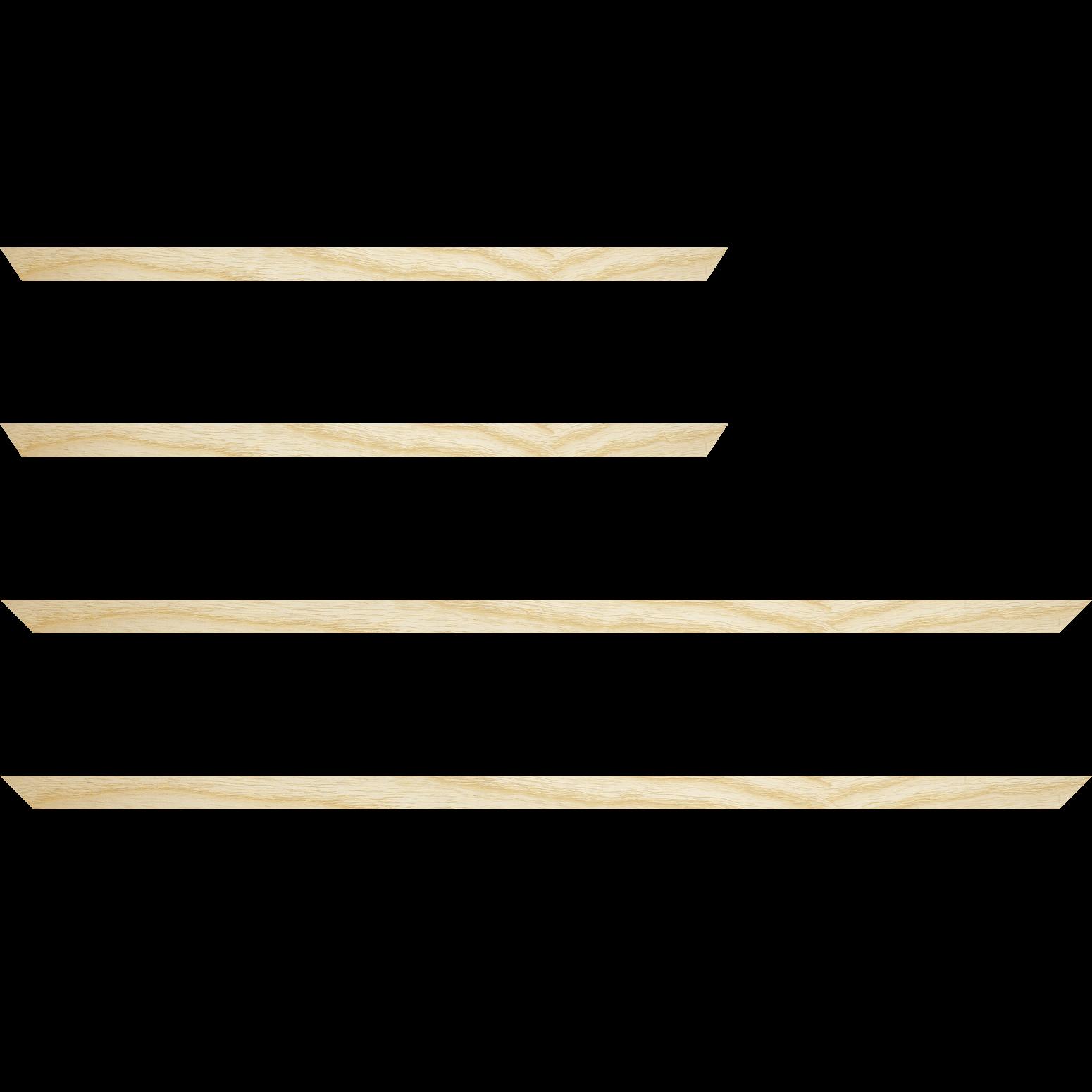 Baguette service précoupé Bois profil plat largeur 1.5cm hauteur 3cm plaquage haut de gamme frêne naturel