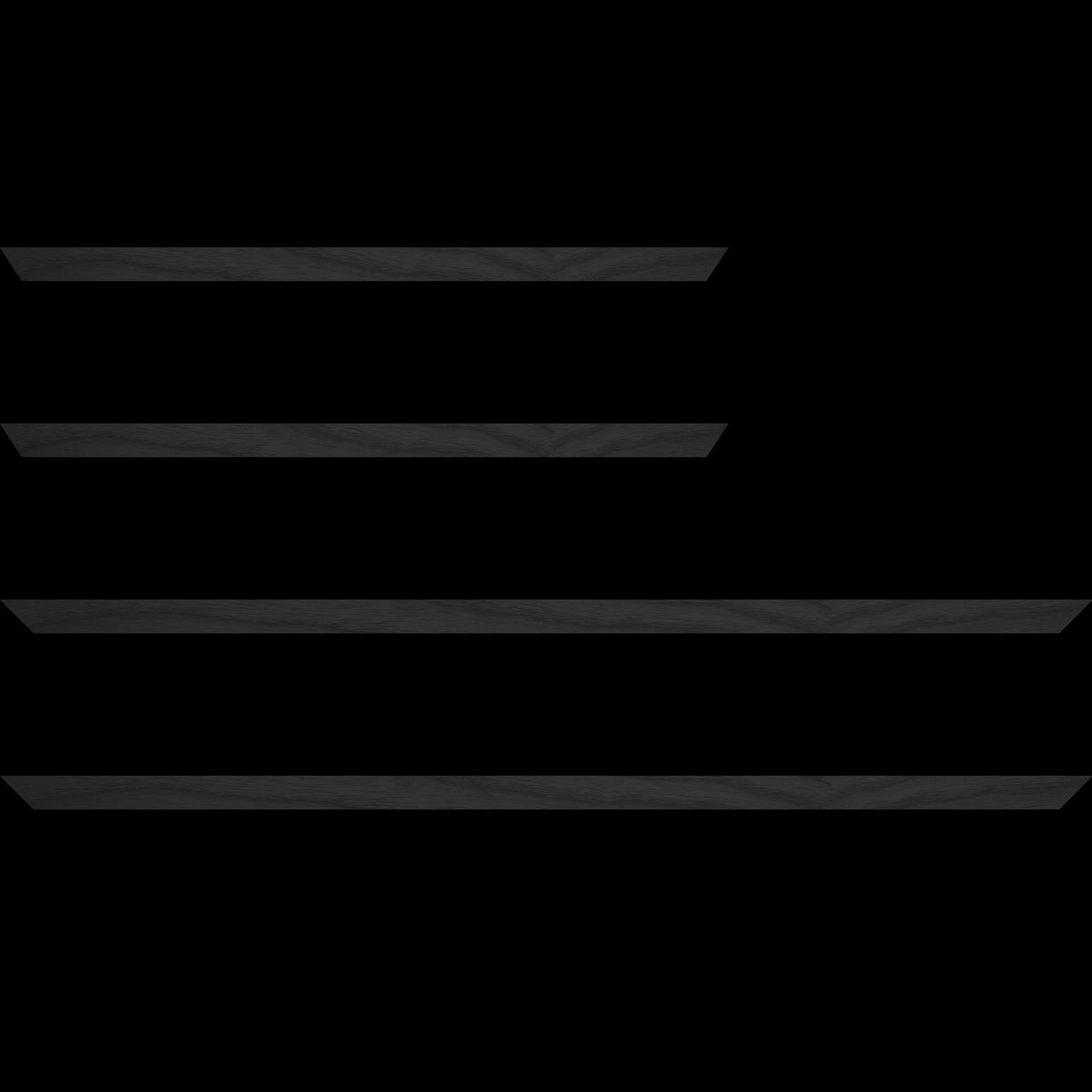 Baguette service précoupé Bois profil plat largeur 1.5cm hauteur 3cm plaquage haut de gamme chêne teinté noir