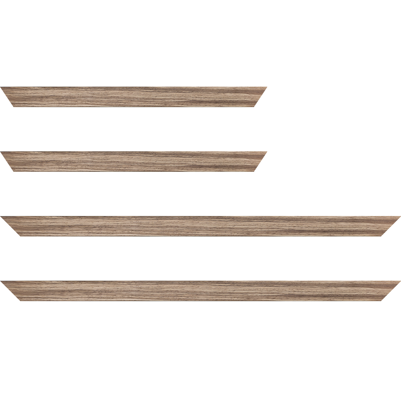 Baguette service précoupé Bois profil plat largeur 2.5cm plaquage noyer haut de gamme