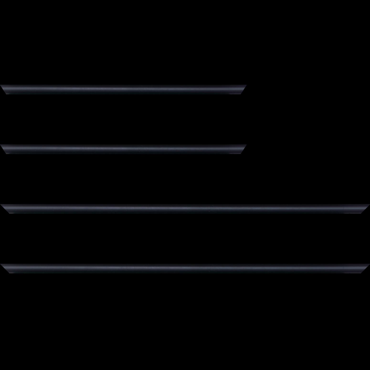 Baguette service précoupé Bois profil demi rond largeur 1.5cm couleur noir mat