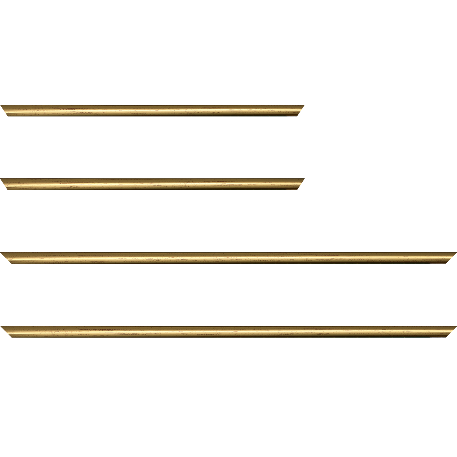 Baguette service précoupé bois profil demi rond largeur 1.5cm couleur or