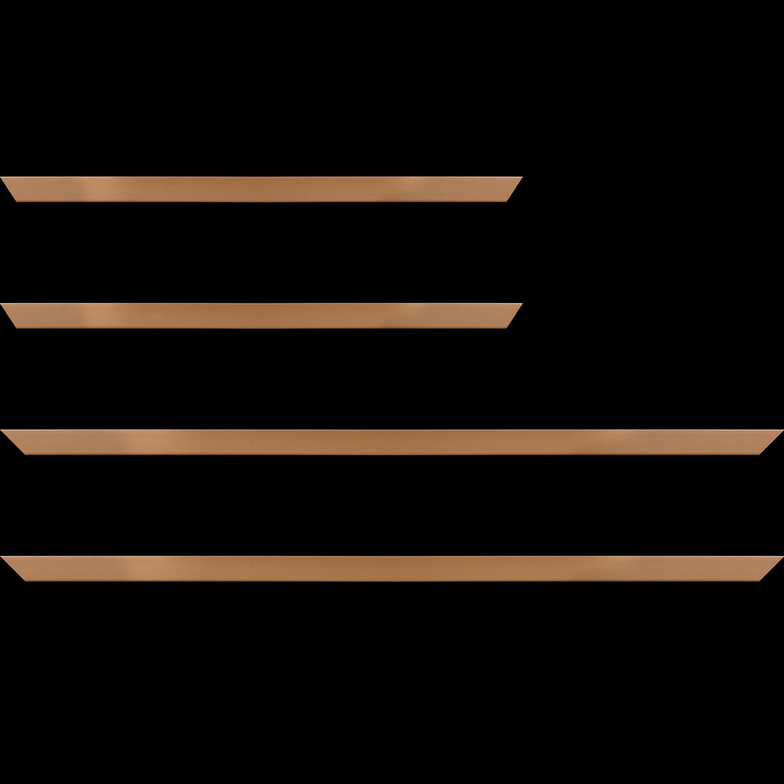 Baguette service précoupé Bois profil plat effet cube largeur 1.7cm couleur moka satiné