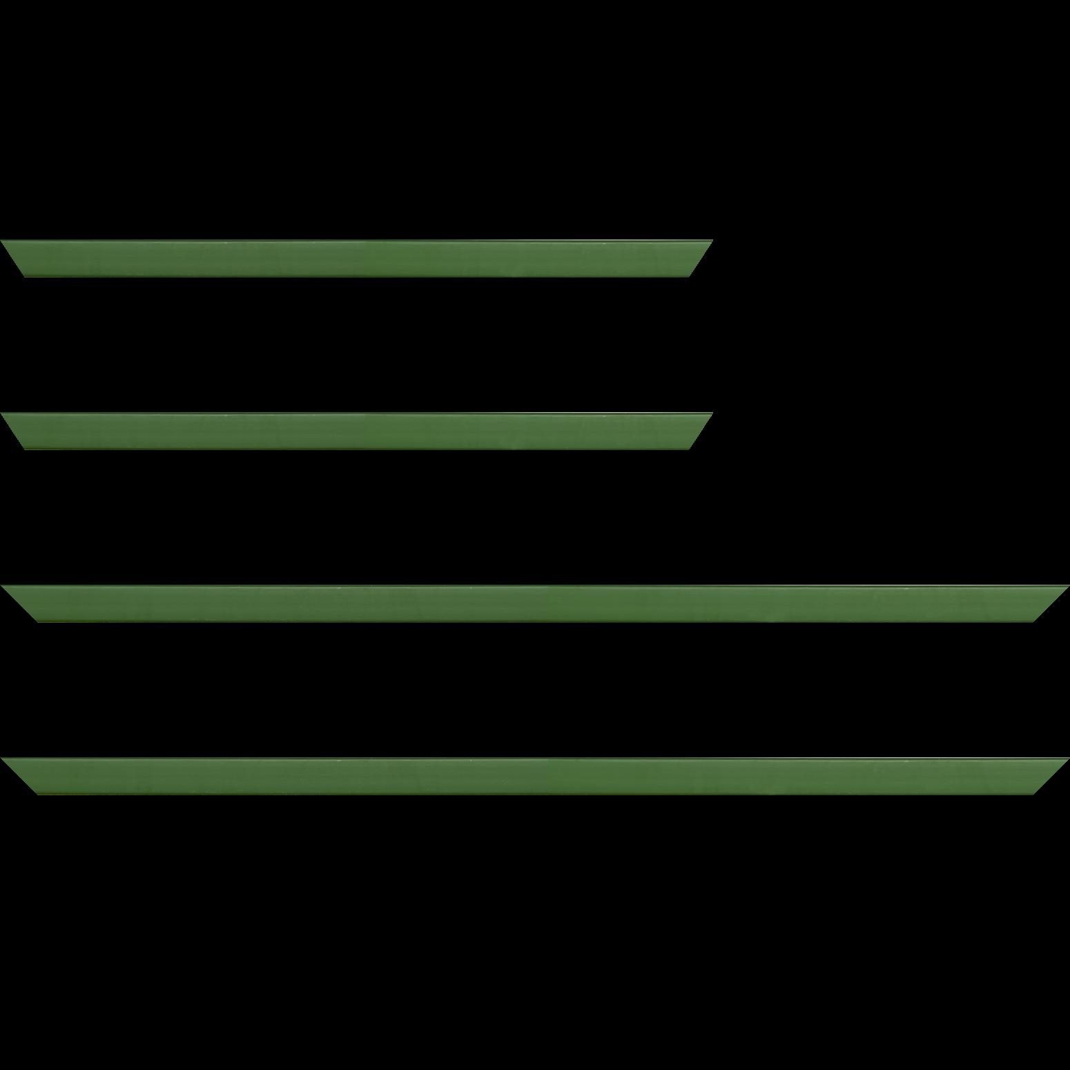 Baguette service précoupé Bois profil plat effet cube largeur 1.7cm couleur vert de Toscane satiné