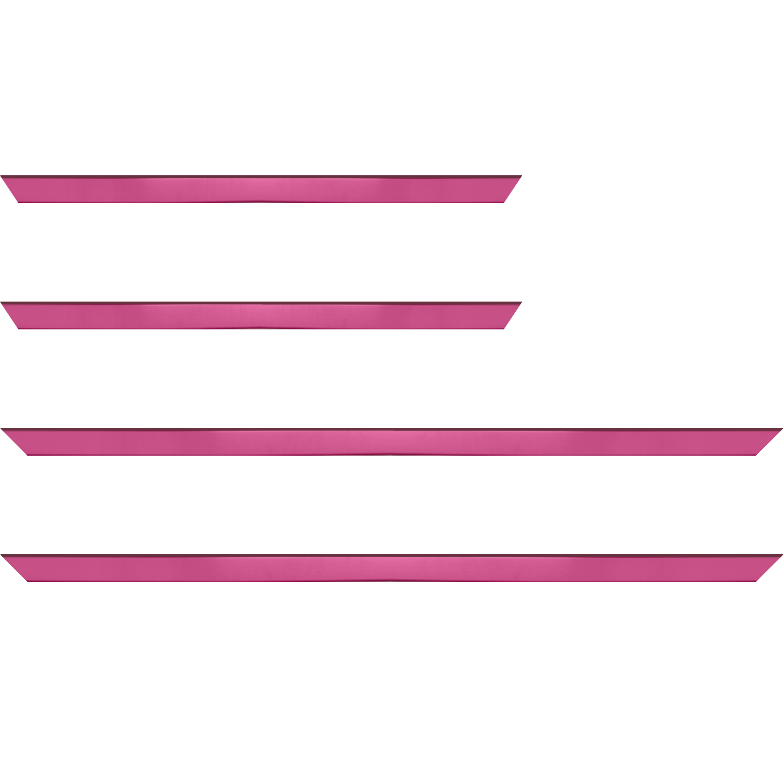 Baguette service précoupé Bois profil plat effet cube largeur 1.7cm couleur rose satiné