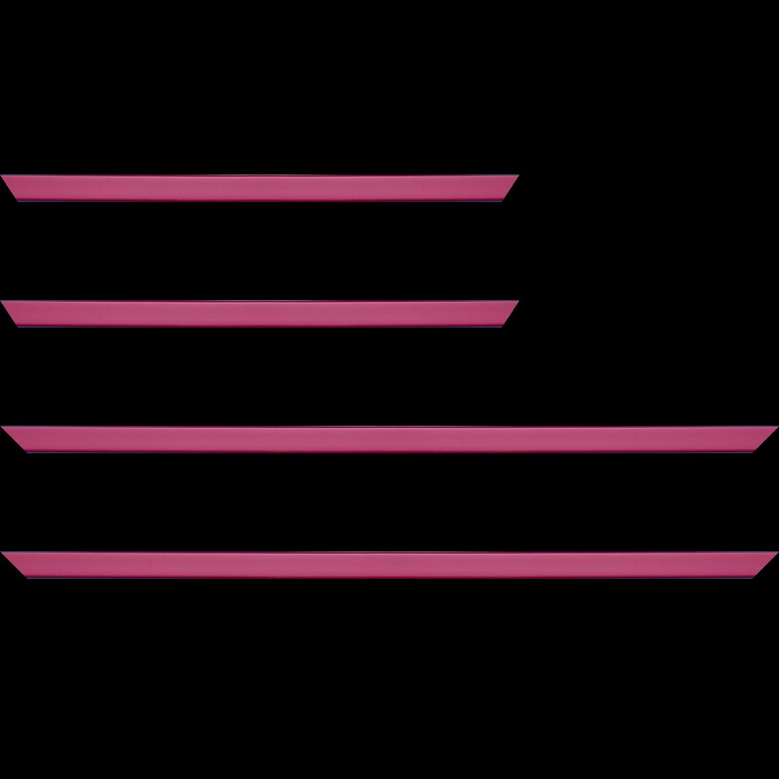 Baguette service précoupé Bois profil plat effet cube largeur 1.7cm couleur rose fuchsia satiné